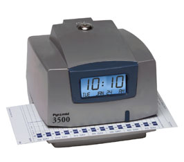 PYRAMID 3500 ELECTRONIC TIME RECORDER AND STAMP