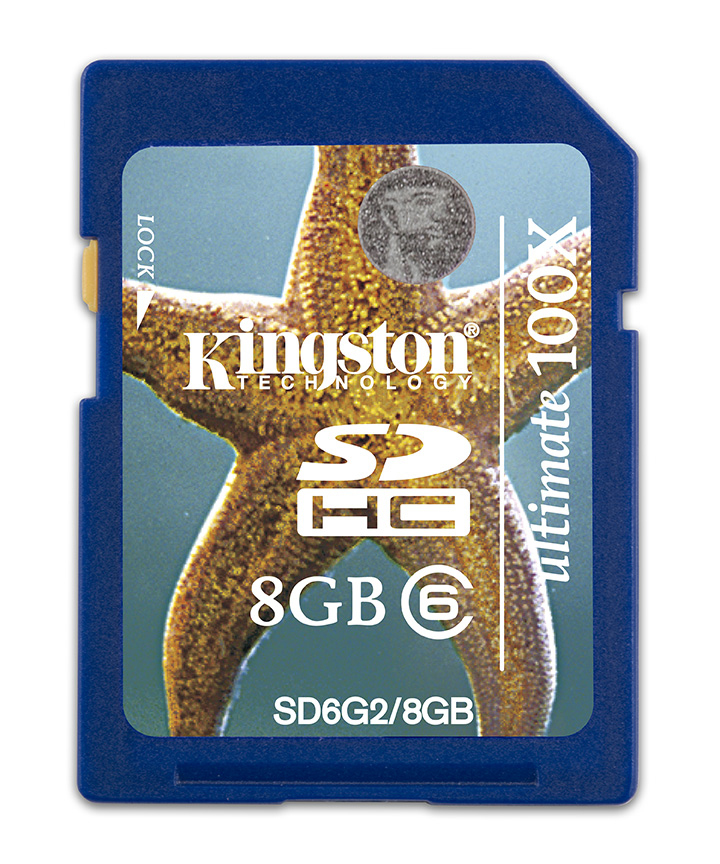 Kingston Technology 8GB SDHC 8192 MB Secure Digital High-Capacity (SDHC) 15 MB/s 24 mm 32 mm 2.1 mm